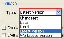 TFS: Get Specific Version Options